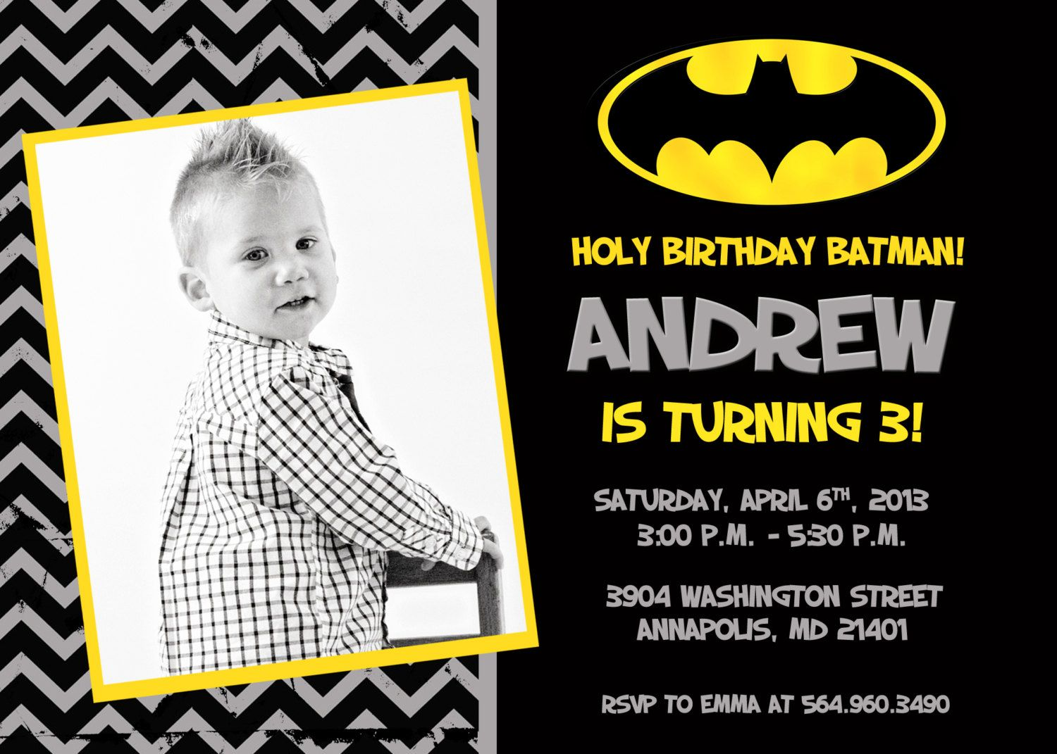 batman birthday party invitation printable by kidspartyprints, Party invitations