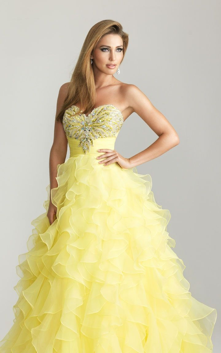 Yellow prom dress dresses pinterest prom and clothes