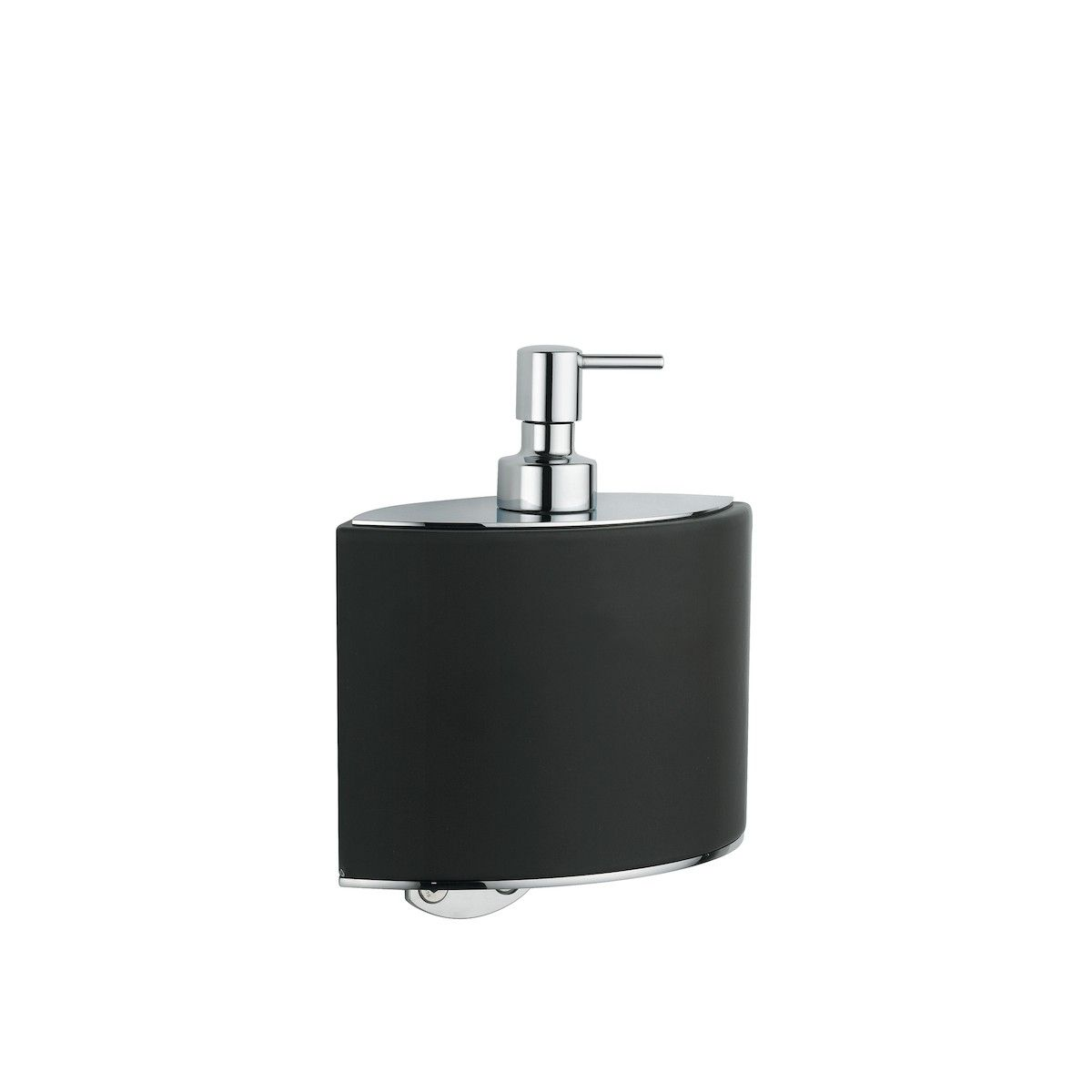 harmony s free standing soap dispenser in chrome or nickel from  - elegant designer modern highend luxurious black ceramic wall mounted soapdispenser with chromed brass