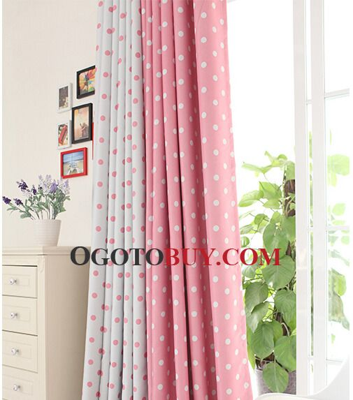 Pink Color Romantis Style Best Black Out Curtains