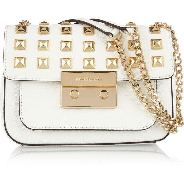 MICHAEL Michael Kors|Sloan studded leather shoulder bag|... ($390) via Polyvore