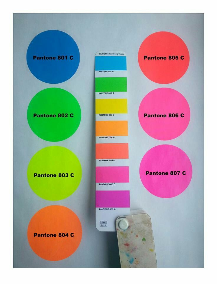 Pantone fluorescent | Neon Pantone in 2019 | Neon colour