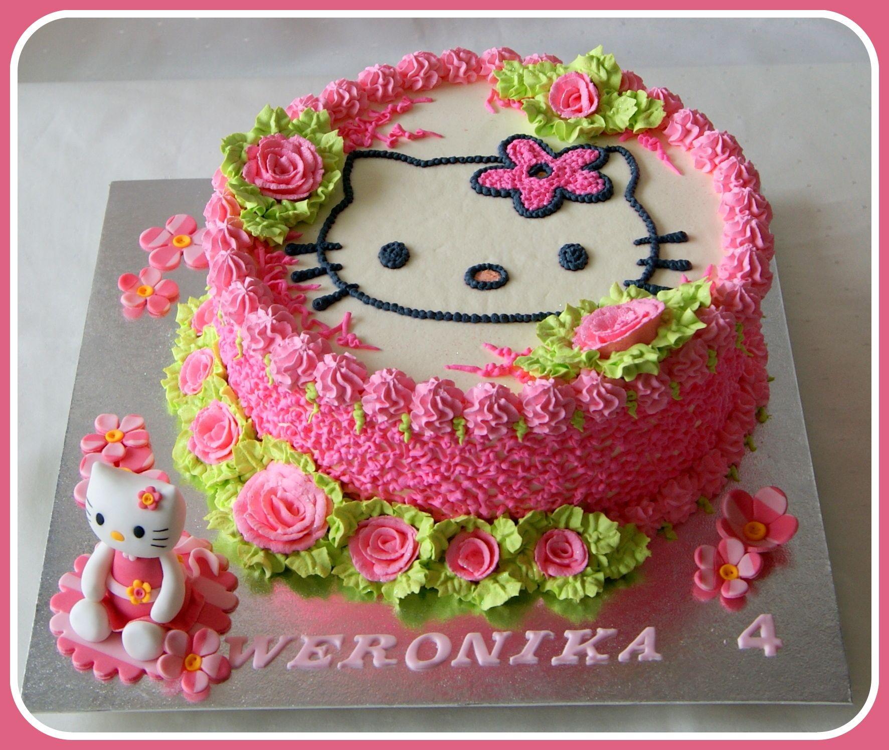 hello kitty fresh cream cake with fresh fruits Cake Ideas