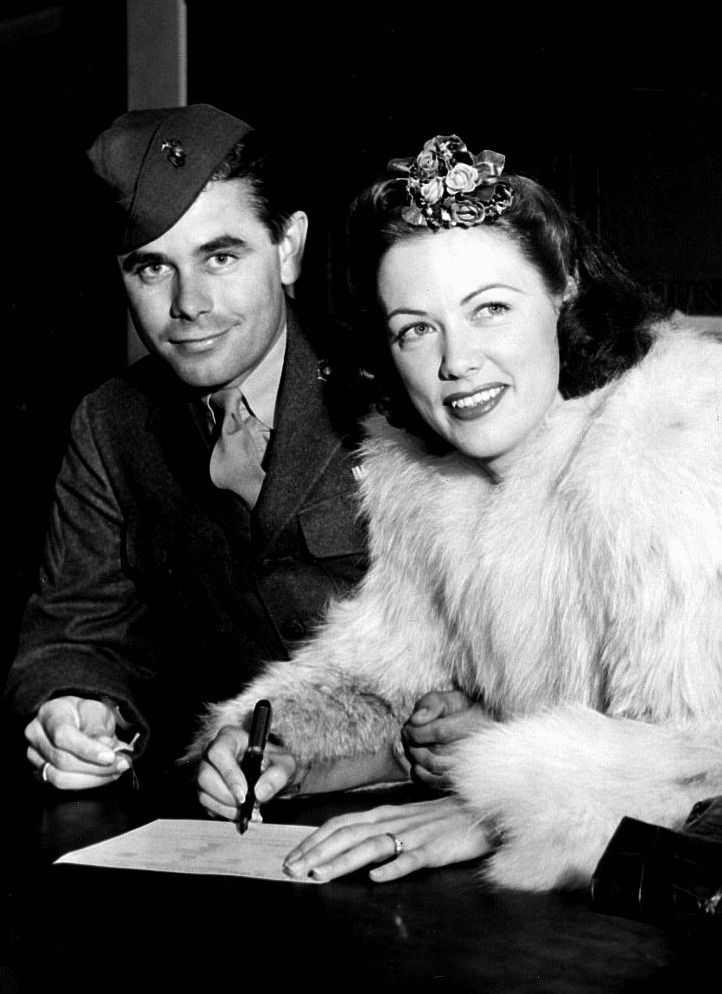 Glenn ford and eleanor powell take out a marriage license