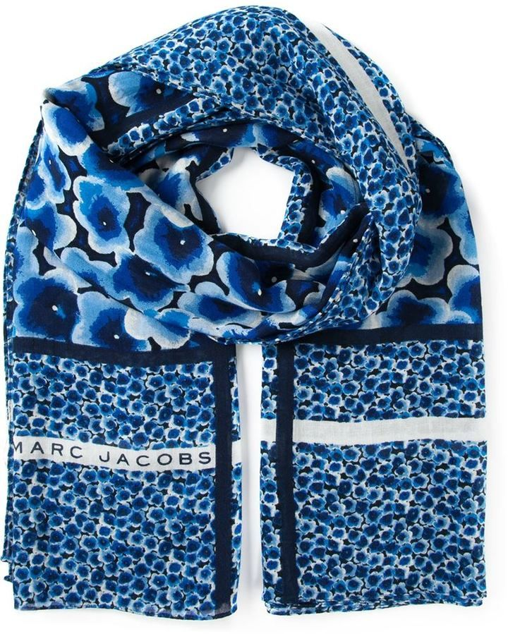 Marc by Marc Jacobs floral print scarf