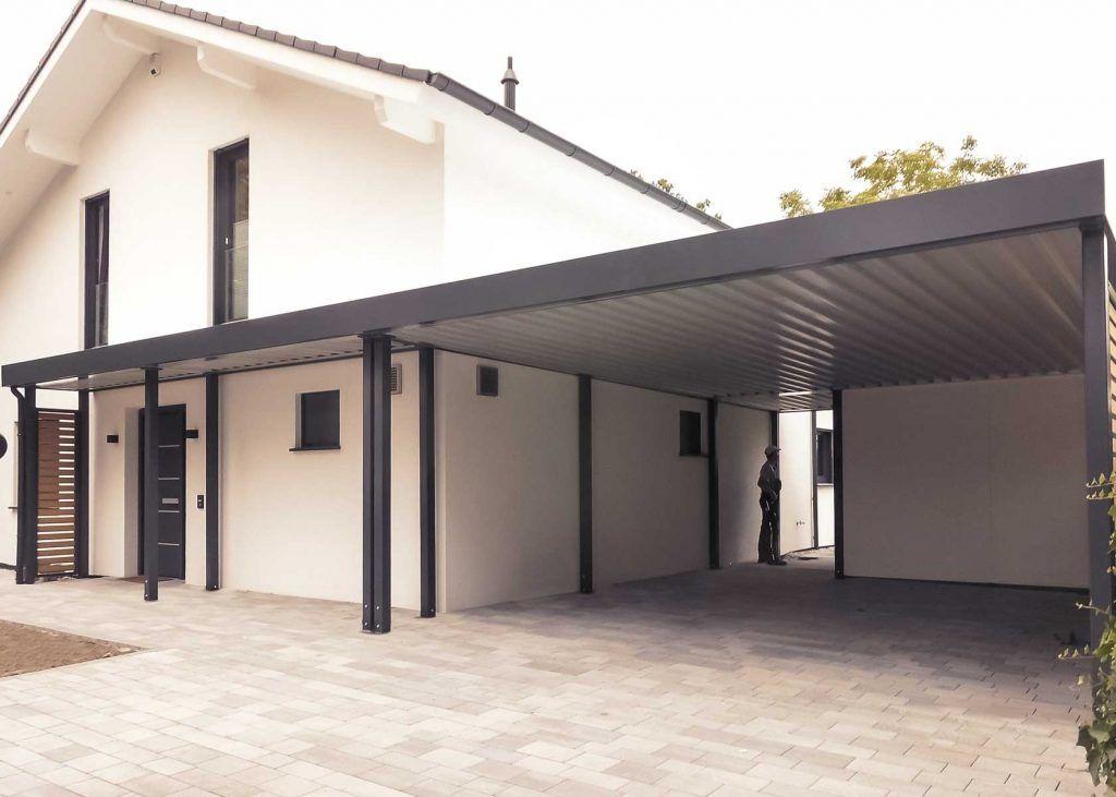 Carport Mit Weiterfuhrung Als Eingangsuberdachung Carport Hausturuberdachung Hausturvordach