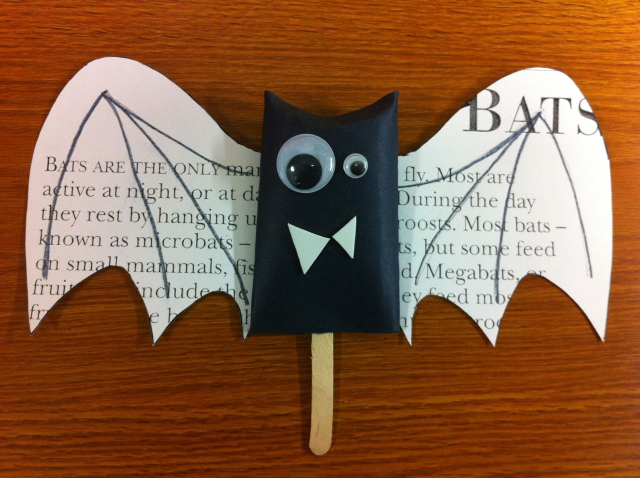 Preschool Story Time Crafts Bat Craft With Wing Template