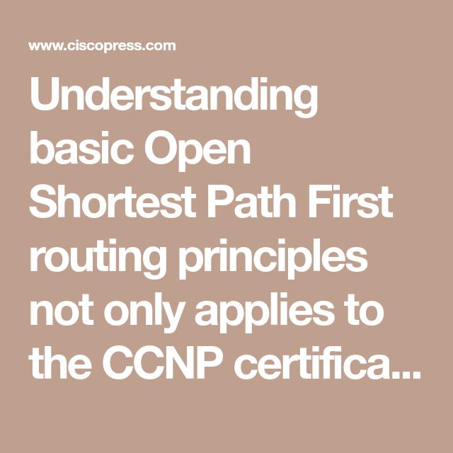 Understanding Basic Open Shortest Path First Routing