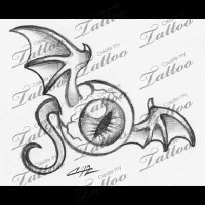 Marketplace Tattoo Flying Eye 6105 Createmytattoo Com Eyeball Drawing Graffiti Drawing Scary Drawings
