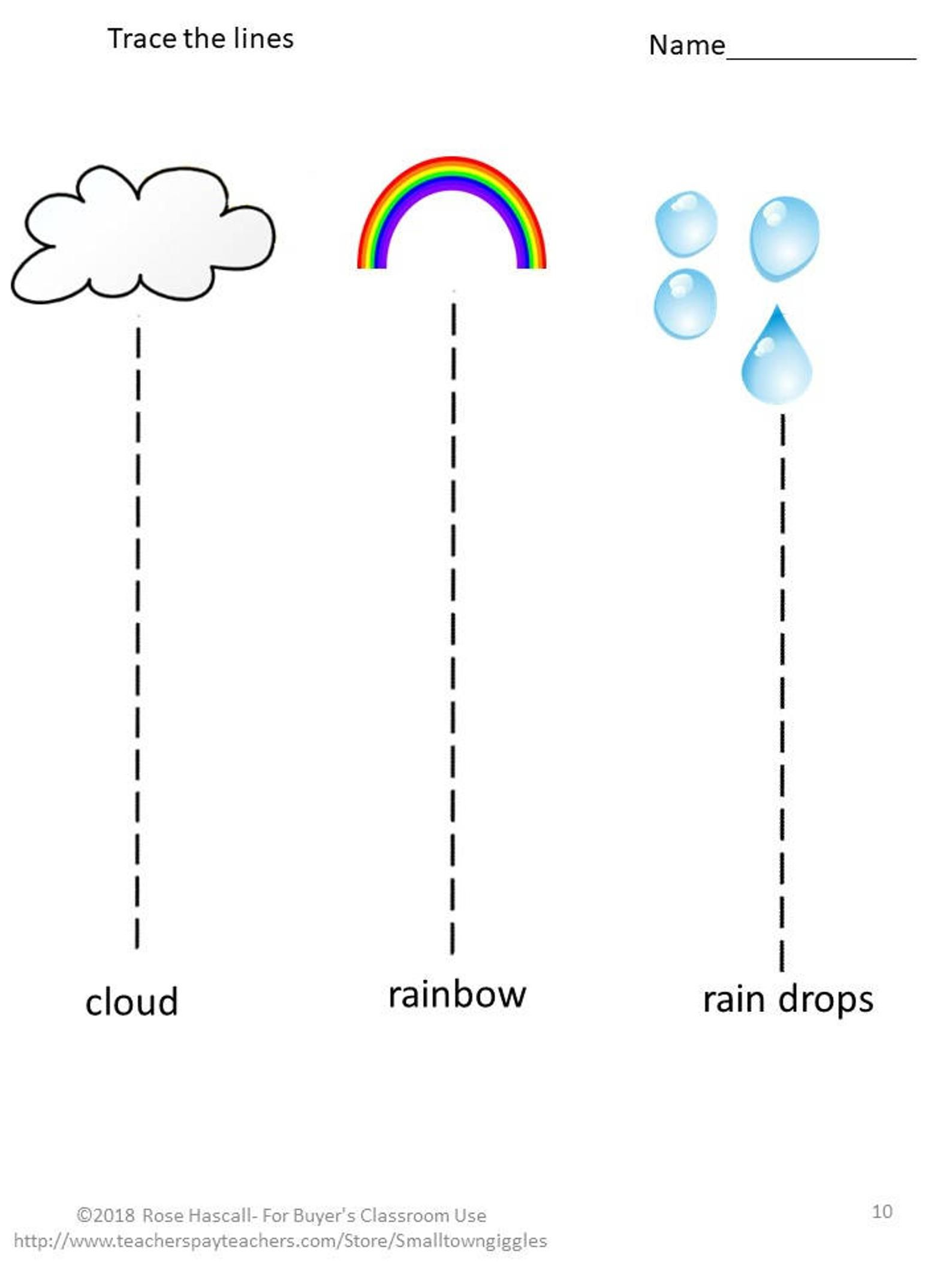 Weather Tracing Activities Early Childhood Special