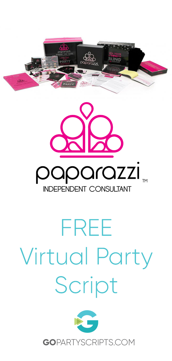 Free Paparazzi Virtual Sales Party Script Package | Go Party