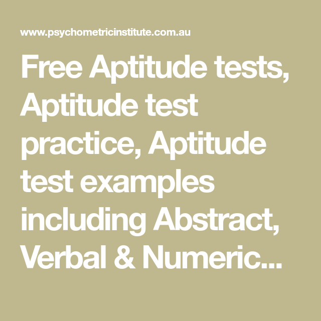 Free Aptitude tests, Aptitude test practice, Aptitude test
