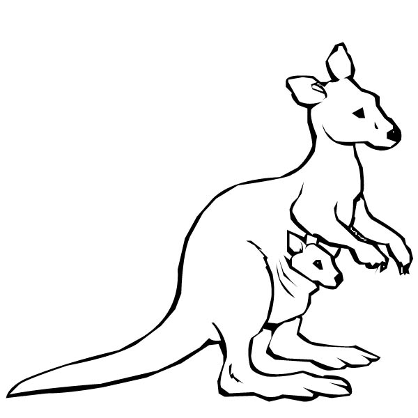Pin By Netart On Kangaroo Coloring Pages Cute Coloring Pages Coloring Pictures Coloring Pages