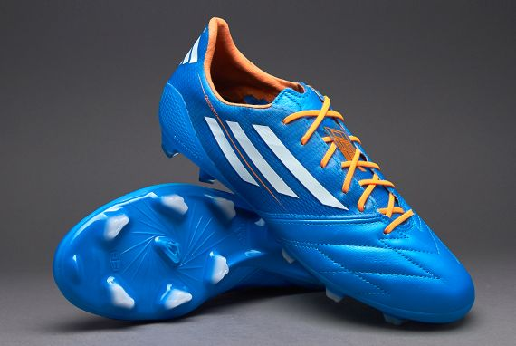 check out e7955 779e0 adidas adiZero TRX FG Leather - BlueWhiteZest Size Engineered by adidas  with a Taurus leather upper