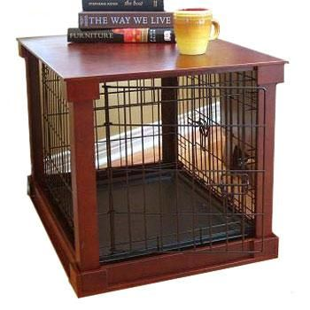 Merry Products Dog Crate With Wooden Cover