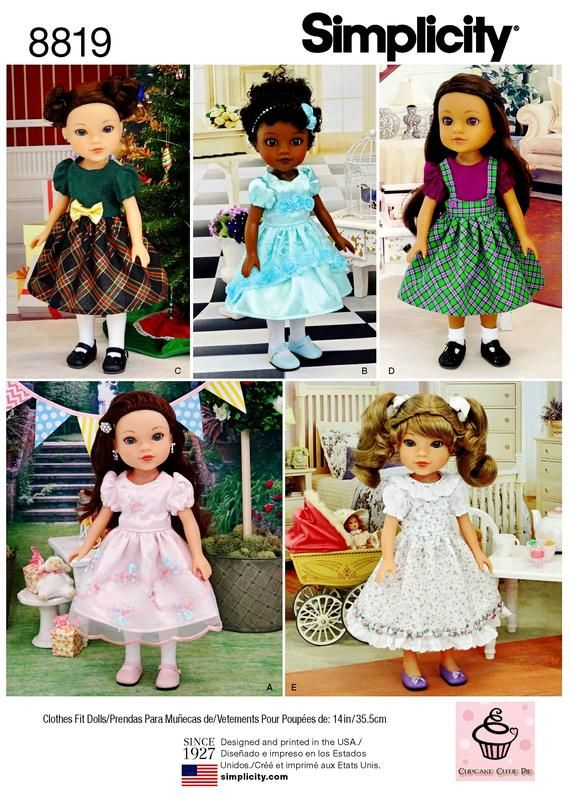 226a8c1803 Sewing Pattern 14 inch Doll Clothes Pattern, 14 inch Doll Dresses ...