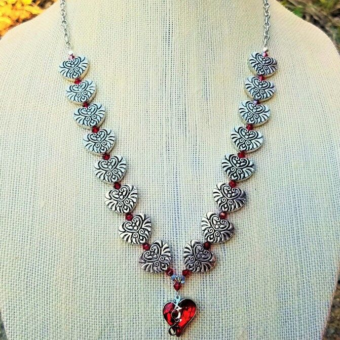 One last Valentines necklace! I have a sale on until the 14th. Use MYVALENTINE to get 5% off ANY item!