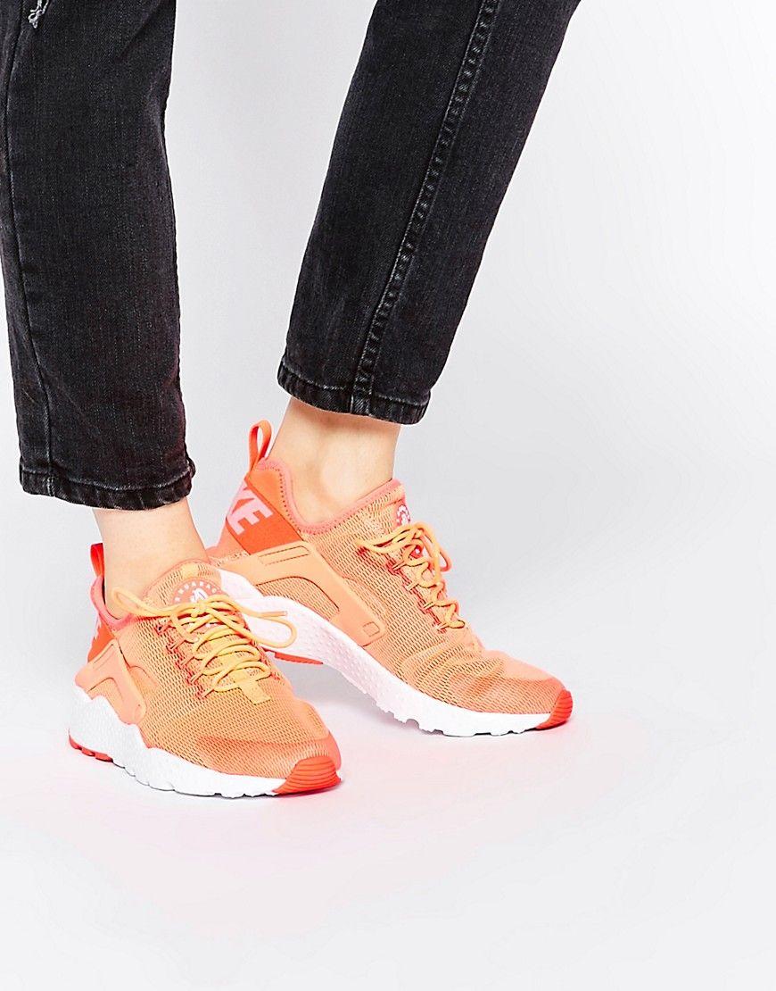 Image 1 of Nike Bright Mango Air Huarache Ultra Trainers