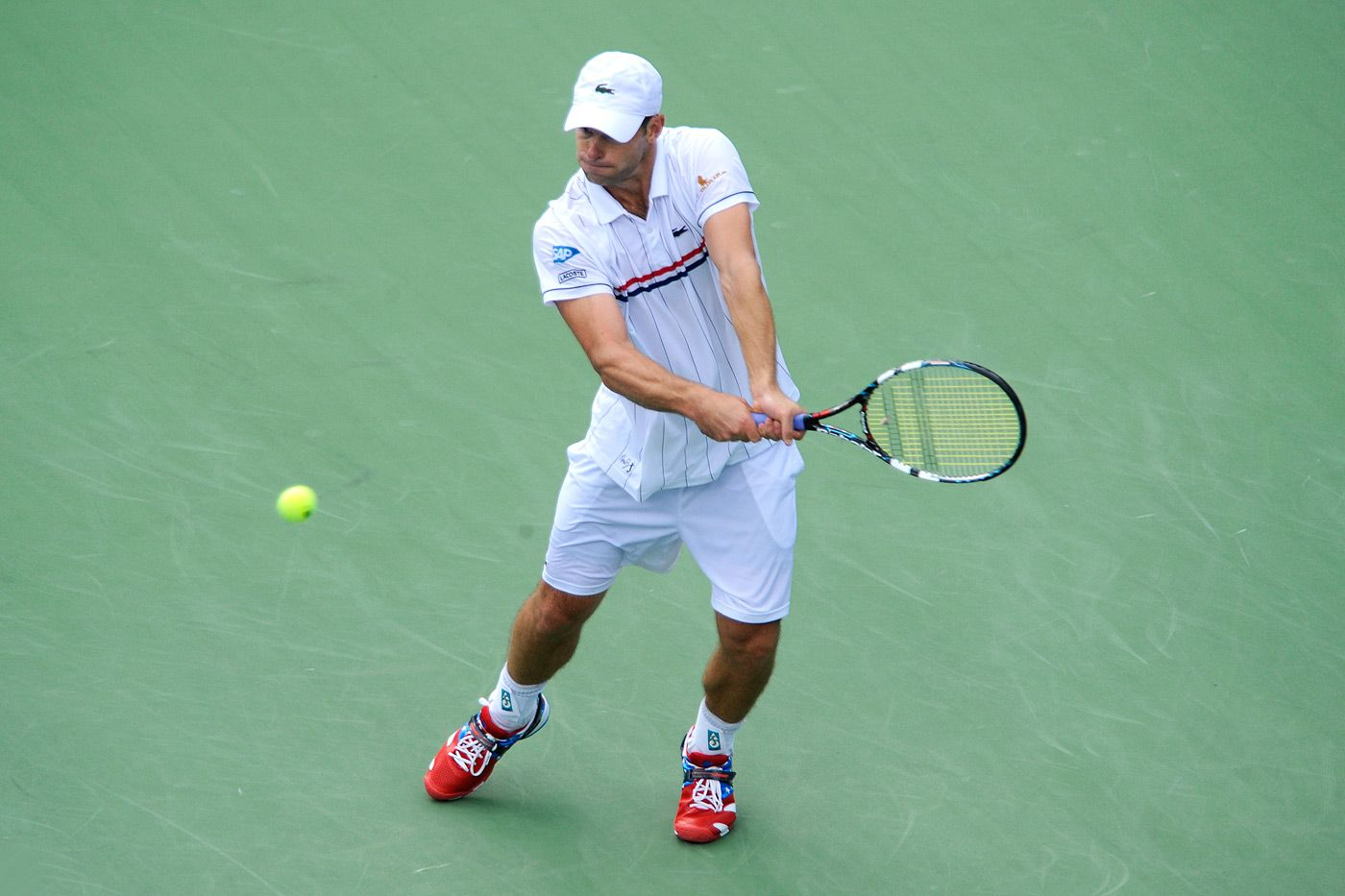 Andy Roddick Usa 20 In Action Against Juan Martin Del Potro Arg 7 Andrew Ong Usta Sports Tennis Players Tennis