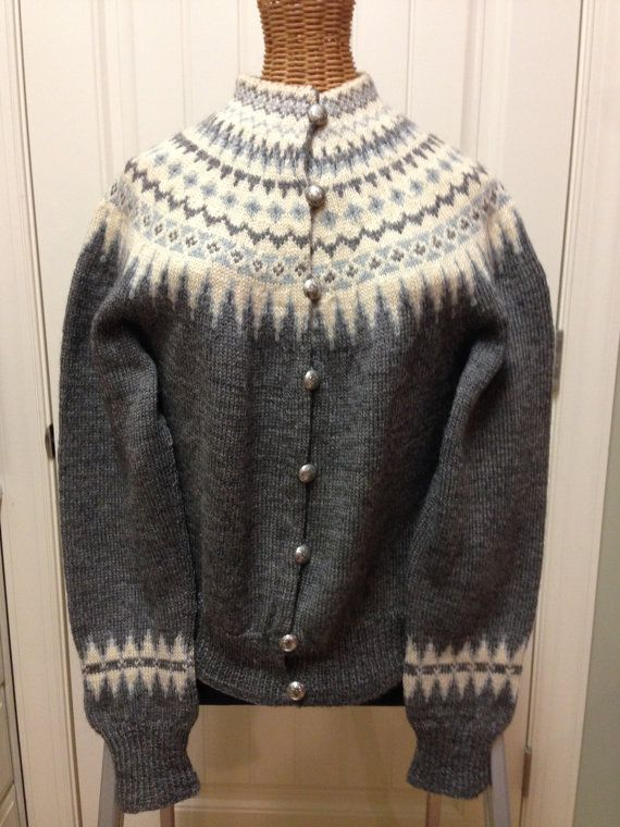 4f12d4fb9d42e5 Beautiful handmade wood sweater in Norway by WILLIAM SCHMIDT of Oslo. Womens  sweater size small