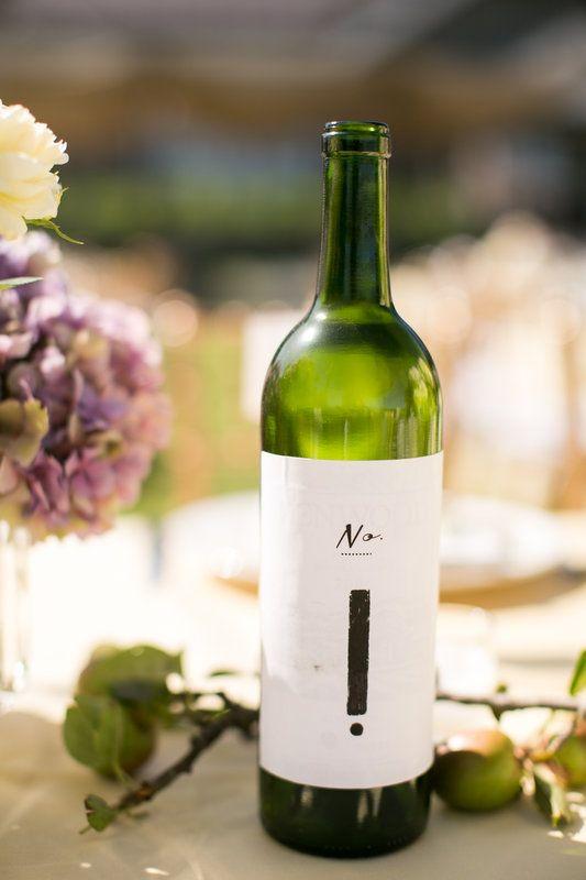 Melody & Jason   Photo By Stewart Uy Photography #weddingdetails #reception #weddingdecor #farmstead #tablenumber #winebottle #longmeadowranch #sthelena #vineyardwedding #weddingphotography #stewartuy