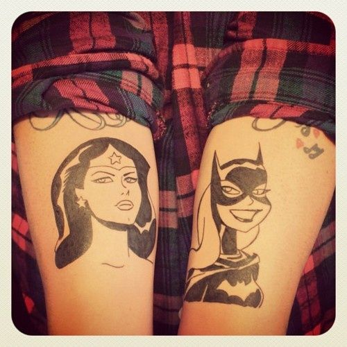 New tattoo additions today. Bruce Timm Batgirl