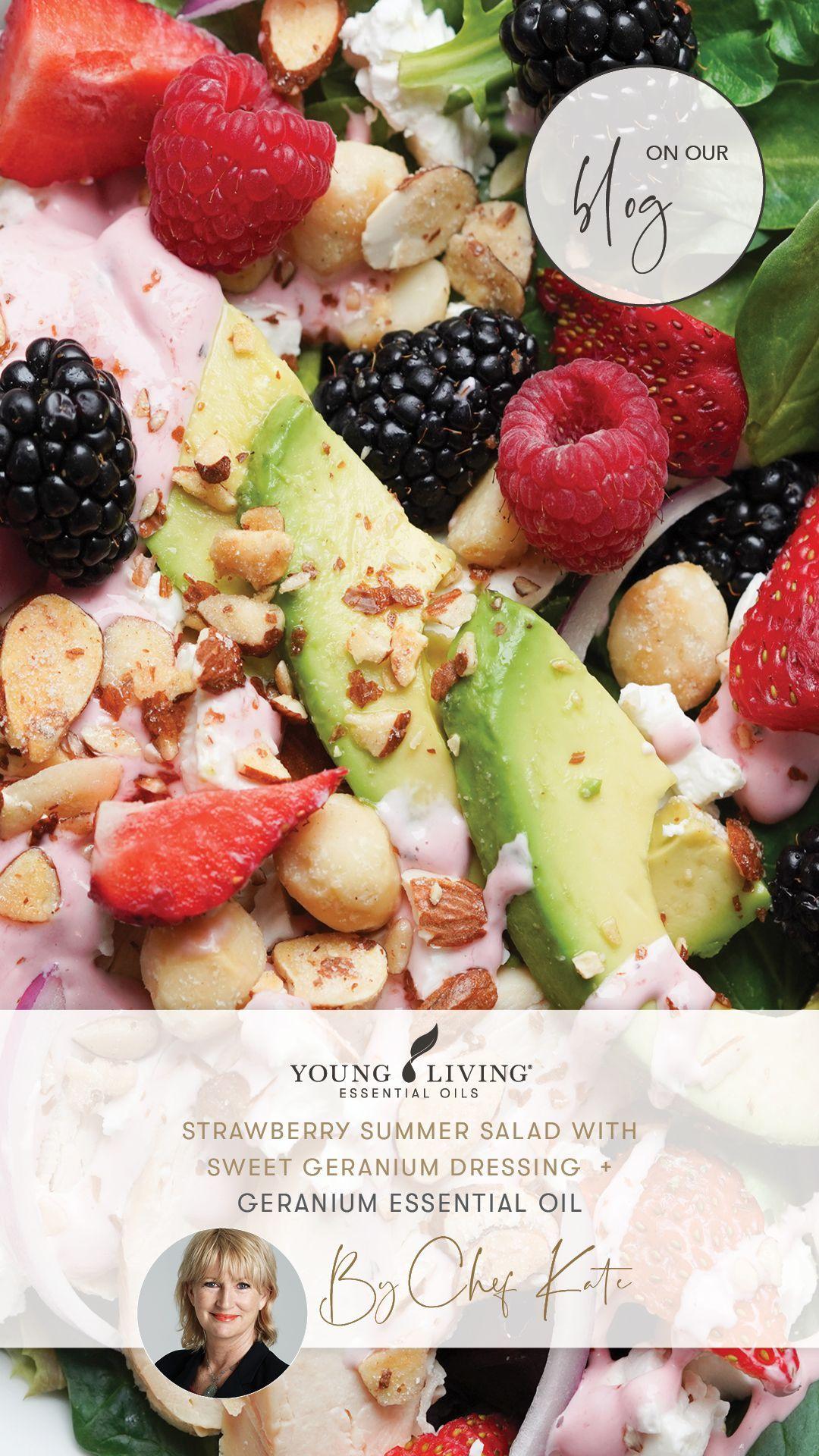 Strawberry Summer Salad Recipe Young Living Australia Blog Recipe In 2021 Blueberry Salad Fruit Salad Recipes Fruit Salad With Yogurt [ 1920 x 1080 Pixel ]