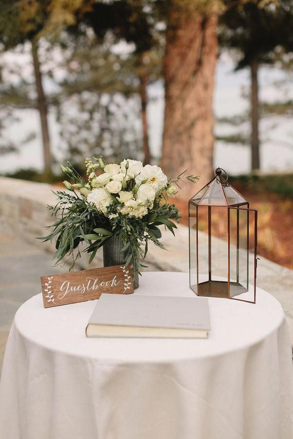 Image Result For Simple Wedding Decor Signing Table Wedding Guest Book Table Wedding Guest Book Sign Simple Wedding Decorations