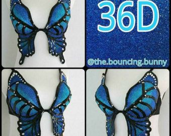 Forest Nymph Costume Rave Bra 34A by TheBouncingBunny on Etsy