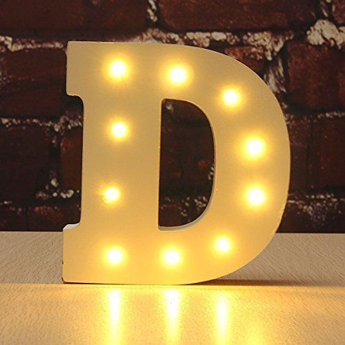 Decorative light up wooden alphabet letterwonfast diy led letter lights sign party wedding holiday marquee decor