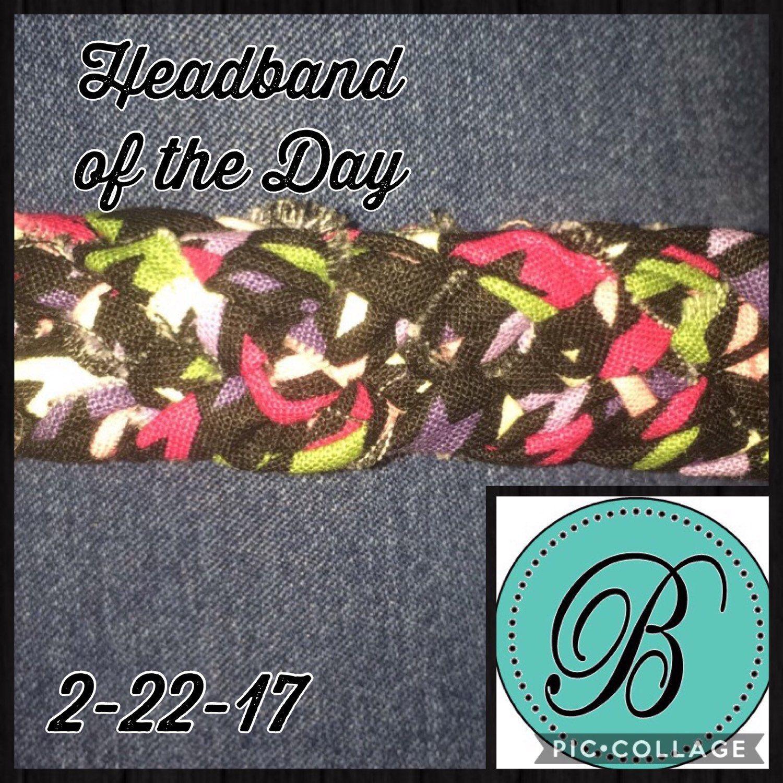 Headband of the Day! Rainbow Houndstooth!