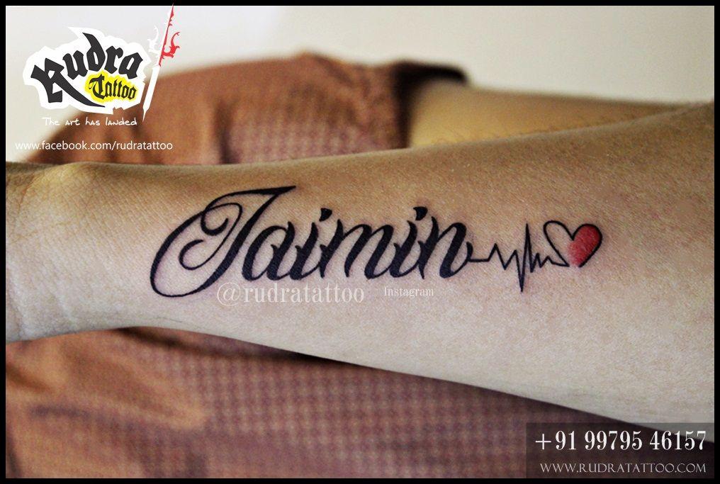 Name Tattoo Script Tattoo Ahmedabad Gujarat India Rudra Tattoo Rudratattoo Best Tattoo In India Best Tattoo In Ah Tattoo Script Dad Tattoos Tattoos