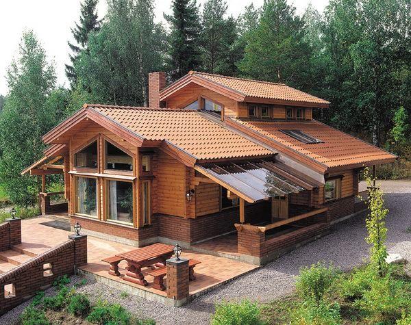 hermosa casa de fin de semana Casas de madera