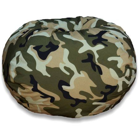 96 Inch Round Bean Bag Camo Green Products In 2019 Bean Bag Chair Army Bedroom Camo Rooms