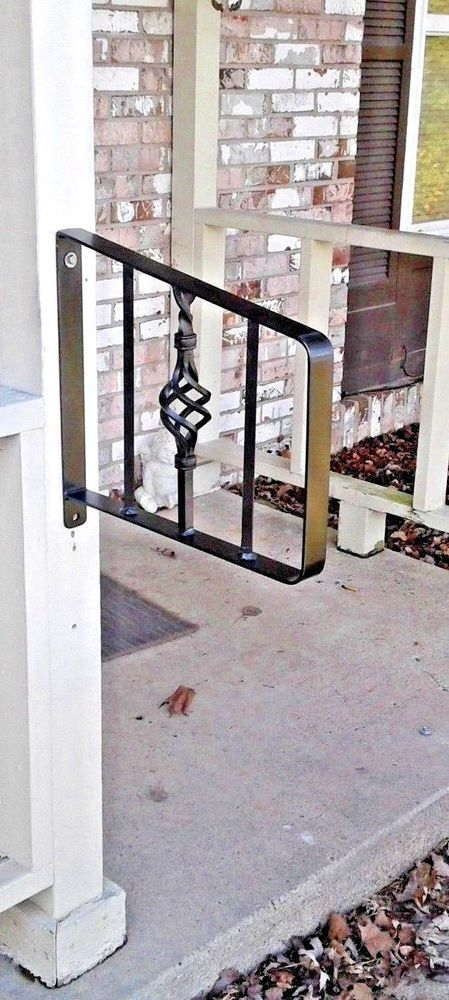 New Grab Support Wrought Iron Hand Railing Post Mount Rails Stairs 1 2 Steps Custommade