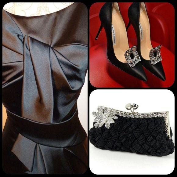 Spotted while shopping on Poshmark: Stunning Karen Millen black satin wiggle dress! #poshmark #fashion #shopping #style #Karen Millen #Dresses & Skirts