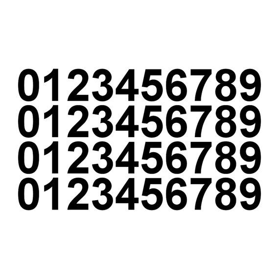 09 numbers set of 40 vinyl decals stickers helmet by wrengifts 5 00