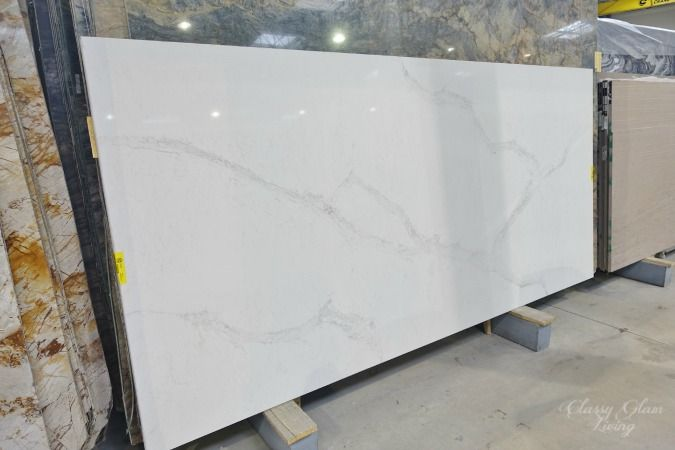 Kitchen countertops marble and look alike alternatives for Caesarstone cost per slab