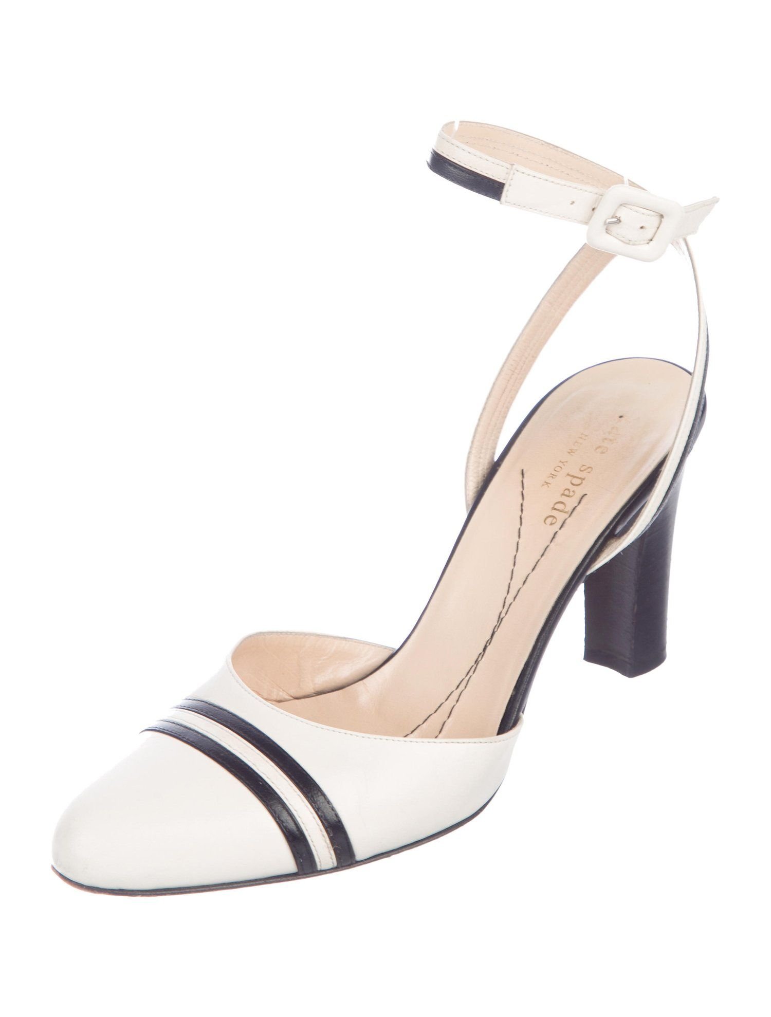 16d100367dc Kate Spade New York Leather Ankle-Strap Pumps - Shoes - WKA90348 ...