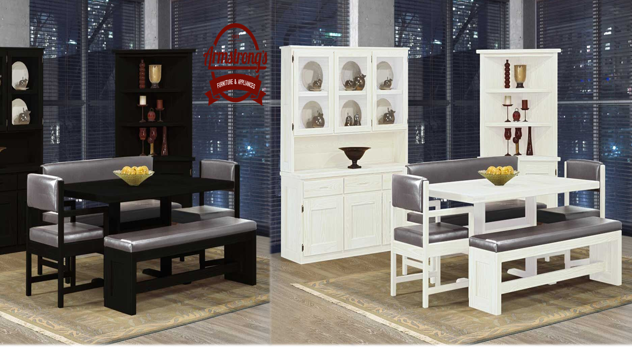 Solid wood dining by crate designs create a different ambience with