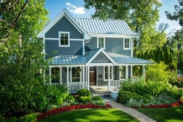 Boothbay Blue Hardi Silver Standing Seam Metal Roof