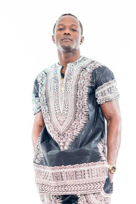NEW Men's Dashiki Shirt Round Neck Dashiki Shirt by MawusiClothing