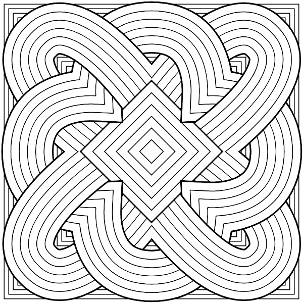 Cute Hard Coloring Pages Geometric Coloring Pages Abstract Coloring Pages Pattern Coloring Pages