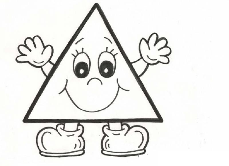 triangle coloring page # 7