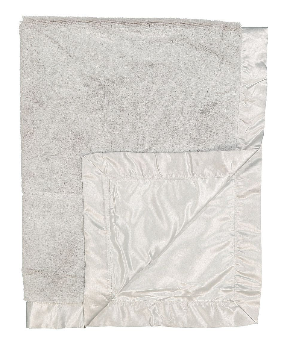 Look at this #zulilyfind! Gray Satin Plush Blanket by Lambs & Ivy #zulilyfinds