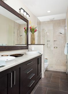 Long and Narrow guest bath - eclectic - bathroom - other metro - by In  Detail
