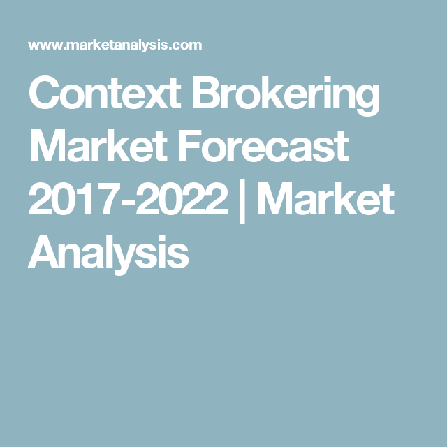 Context Brokering Market Forecast   Market Analysis