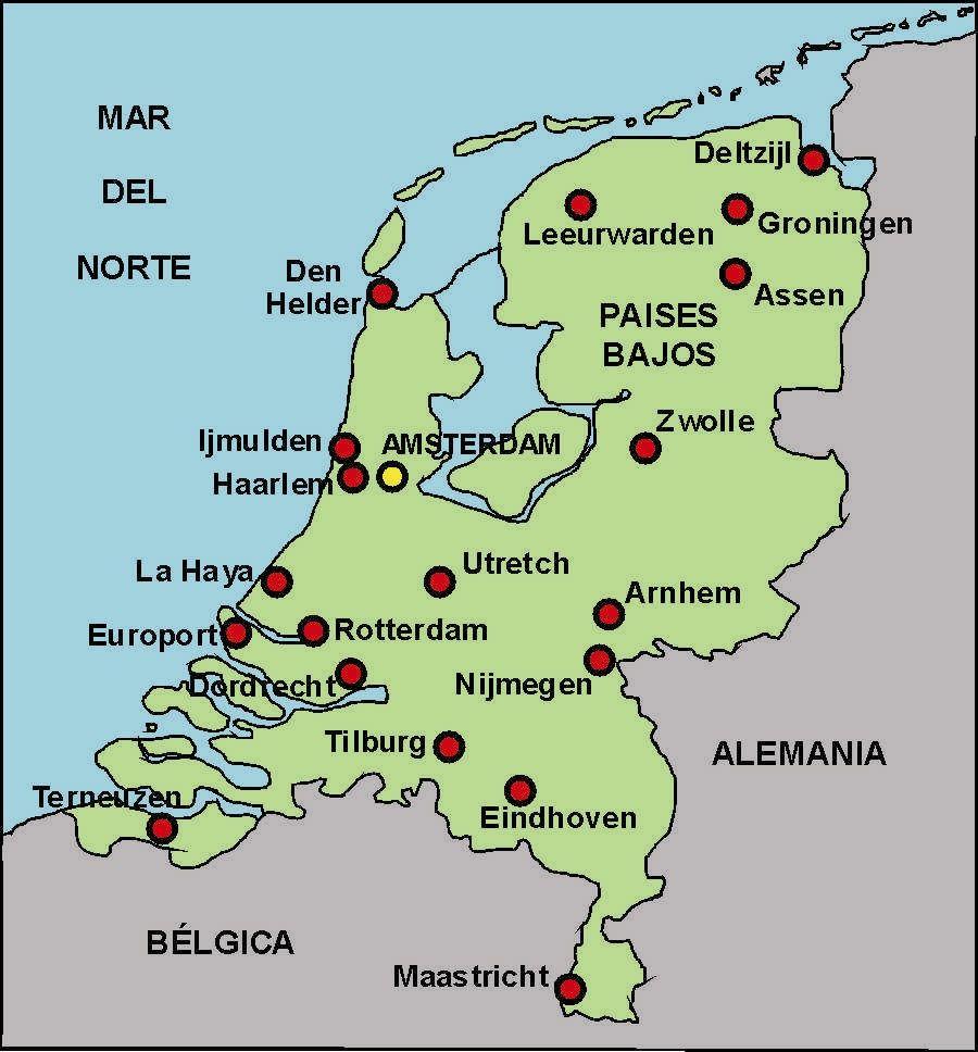 Pin De Florencia En Rree Holanda Mapa De Europa Paises Bajos