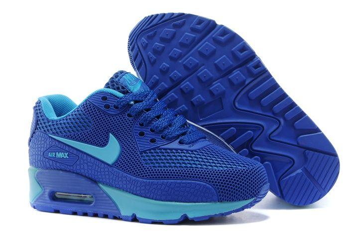 low cost 626e9 eeeb0 Nike Air Max 90 KPU TPU Noir Et Bleu Azuré Chaussures