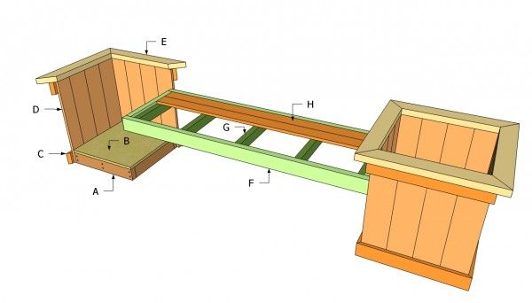 Planter Bench Plans Garden Bench Plans Garden Bench Diy